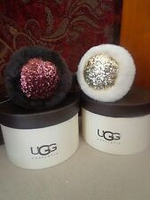 UGG Australia Women's Glitter Shearling Earmuffs - Chocolate or Sterling - 11975