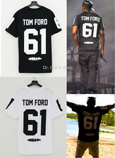 New Tom 6 1 Molly Short Sleeve T-Shirt Crew Neck Cotton Tee Black White Jay-Z