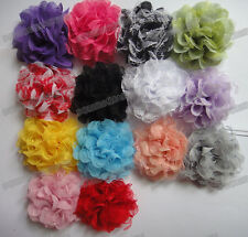 Lots 45 DIY 15color pick organiza ribbon corsage flower Appliques Sewing Wedding