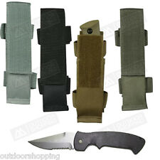 "Hook & Loop Closure Modular Knife Sheath 6"" x 1 1/2"" - Attaches To Duty Belt"