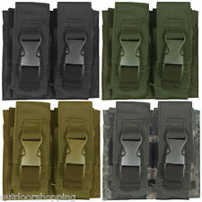 "Flash Bang Double Pouch 5 1?2"" x 6"" - Quick Release Buckle Closure, MOLLE"