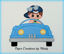Boy Car Driving summer premade paper piecing for scrapbook pages albums borders