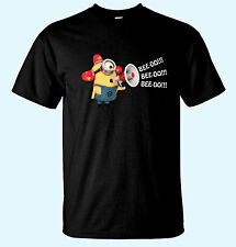 Minion Fireman Bee Do!!! Dispicable Me Kid's Funny T-Shirts 8 Colors X-Sm/X-Lrg.