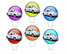 Edible Cupcake Toppers - HERBIE LOVE BUG BEETLE - Birthday Cake Toppers