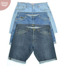 Mens Vintage Levis Lee Wrangler Turned Up Denim Jeans Shorts W30 32 33 34 36 38