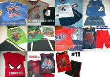 * NWT NEW BOYS 2PC OR 3PC MARVEL SPIDERMAN SUMMER OUTFIT SET 2T 3T 6