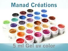 5 ml uv gel color pink purple red yellow brown black white green orange blue...