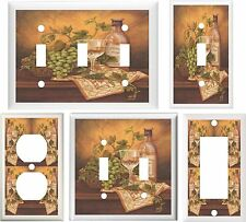 TUSCAN WINE & GRAPES KITCHEN DECOR LIGHT SWITCH OR OUTLET COVER V059