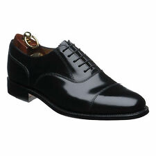 SALE 200B MENS LOAKE BLACK LEATHER CAPPED OXFORD LACE UP SMART OFFICE SHOES