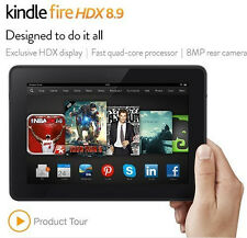 "New 2013 Kindle Fire HDX 8.9"", 16, 32 or 64 GB, WiFi or 4G + Free 1 Yr WARRANTY"