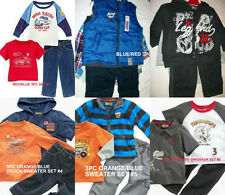 * NWT NEW BOYS 3PC Nannette VEST SWEATER SHIRT PANTS OUTFIT SET 12M 18M 24M