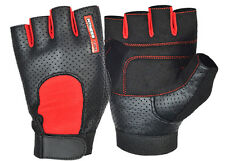 TOP QUALITY WEIGHT LIFTING PADDED GLOVES FITNESS EXERCISE TRAINING CYCLING GYM