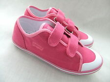 NEW LEVIS OCEAN PINK CANVAS VELCRO GIRLS TRAINERS