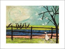 SAM TOFT DORIS AND THE BIRDIES ART PRINT WITH FRAME OPTIONS OR AS A BOX CANVAS