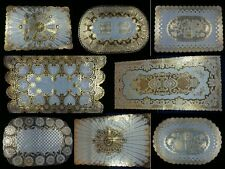 Gold Lace Flower butterfly dining mat table ele-gant placemat dinner romance new