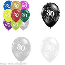 Balloons 30th Birthday Choose Colour Qualatex 28cm x 10 Party Decorations