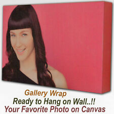 YOUR PHOTO ART OR PICTURE TURN INTO IMAGE ON CANVAS WITH GALLERY WRAP FRAME