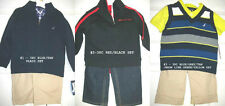 * NWT NEW BOYS 3PC NAUTICA SWEATER JEANS OUTFIT SET SZ 12M -18M