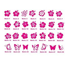 Wall Tattoo Decal Hibiscus Flower 2-28 Pieces