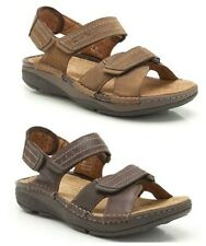 MENS CLARKS TOBACCO NUBUCK CURVED SOLE ACTIVE AIR CUSHIONED SANDALS MOVERS RAY
