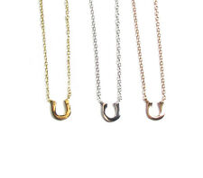 Tiny Horseshoe Necklace, Rose Gold, Sterling silver or Gold vermeil