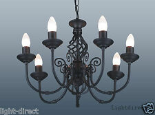 TRADITIONAL CLASSIC  BARLEY TWIST 7 ARM CEILING LIGHTS CHANDELIER BLACK & OTHERS