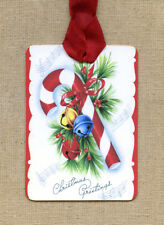 Hang Tags  RETRO CHRISTMAS CANDY CANE TAGS or MAGNET #337  Gift Tags