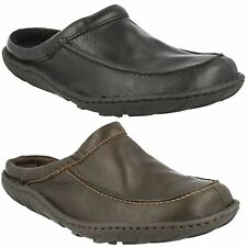 MENS CLARKS CLOSED TOE LEATHER SLIP ON FAUX FUR WARM MULE SHOES KITE VASA G FIT