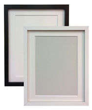 White or Black Photo Picture Frames with Black White or Ivory Mounts RIO MDF