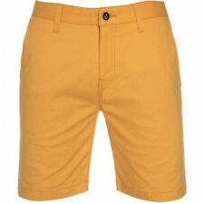 Volcom Mens Frickin Tight Solid Shorts in Curry Yellow - Slim Fit Chino Shorts