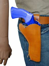 """NEW Barsony Tan Leather 49-er Style Gun Holster for Rossi Navy Arms 6"""" Revolvers"""