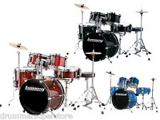 Ludwig Junior Drum Set with Hardware Cymbals Throne Blue Red Black Complete Kit