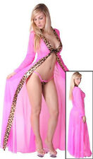 NEW! COSTUME MADE SENSUAL JUNGLE FEVER NEON PINK VICTORIAN FLAIR SLEEVE COAT