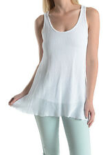 T-PARTY New White Double Layer Essential Fishnet Tunic Tank Top Beach Vocal Cute