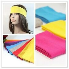 Women Girls Yoga Terylene Elastic Hairband Headband Elastic Turban Sports Soft