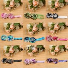 Beautiful Cute Baby Toddler Child Girls 2 Flowers Hairband Headband Headwear New