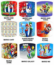 Super Mario Brothers Lamp shades Ideal To Match Children`s Duvets & Curtains