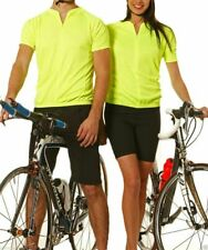 Short Sleeves Cycling Jersey | Yellow Fluro White Sports Clothing | Bike