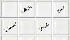 """Tile Transfers stickers for Shower or Bathroom to fit 4"""" or 6"""" Tiles. pack of 12"""