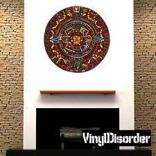Aztec Calendar Wall Decal - Vinyl Car Sticker - AztecUScolor001EY