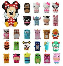 Cartoon Animals Silicone Rubber Gel Tpu Case Cover Skin For iPhone 4 4s 5 5s 5c