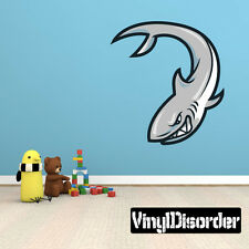Shark Mascot Wall Decal - Vinyl Car Sticker - MascotUScolor015EY