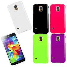 For Samsung Galaxy S5 I9600 TPU Shockproof Skin Soft Case Back Cover Candy color