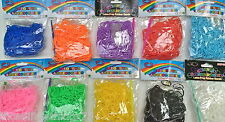 Loom bands refill pack various colours 300 C clips friendship bracelet
