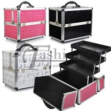 Pro Large Space Beauty Make up Nail Tech Cosmetic Box Vanity Case 3 Colour tmas