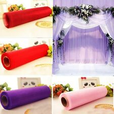 Hot 26M X 28CM Roll Of Crystal Organza Sheer Fabric Soft Wedding Gift Party Bows