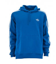 Mens Adidas Originals Blue Fleece Hoodie Hoody Sweatshirt Top S M L XL