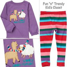 NWT OUTFIT CRAZY 8 CHEERY GOOD FRIENDS GIRLS SIZE 2 2T 3 3T LEGGINGS SHIRT TOP