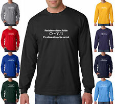 Resistance Is Not Futile Geek Funny Electronics Star Trek Long Sleeve T-Shirt