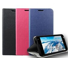 Flip Cover Housse Coque Etui Support Cuir Pour Alcatel One Touch Smartphone+Film